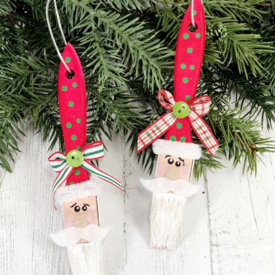 Paintbrush Santa Claus Ornaments