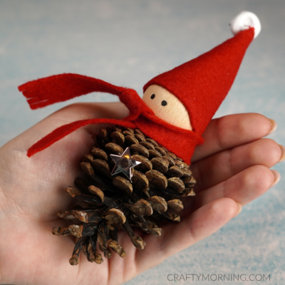 How to Make a Pinecone Elf