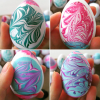 Water Marble Easter Egg Decorating