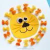 Pasta Noodle Lion Craft for Kids