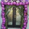Plastic Pumpkin Arch Entry Way