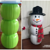 Plastic Pumpkin Snowman/Fall Decoration