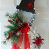 Lighted Grapevine Snowman Wreath
