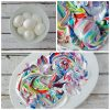 Cool Whip Dyed Easter Eggs