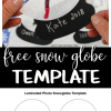 Free Laminated Snow Globe Template