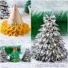 3D Pasta Noodle Christmas Trees