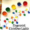 Fingerprint Christmas Light Craft For Kids (DIY Christmas Card Idea!)