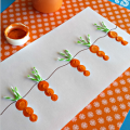 Fingerprint Carrot and Bunny Craft for Kids