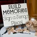DIY Wedding Jenga Guestbook Idea (Reception Decor)