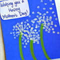 Q-Tip Dandelion Mother's Day Card for Kids to Make